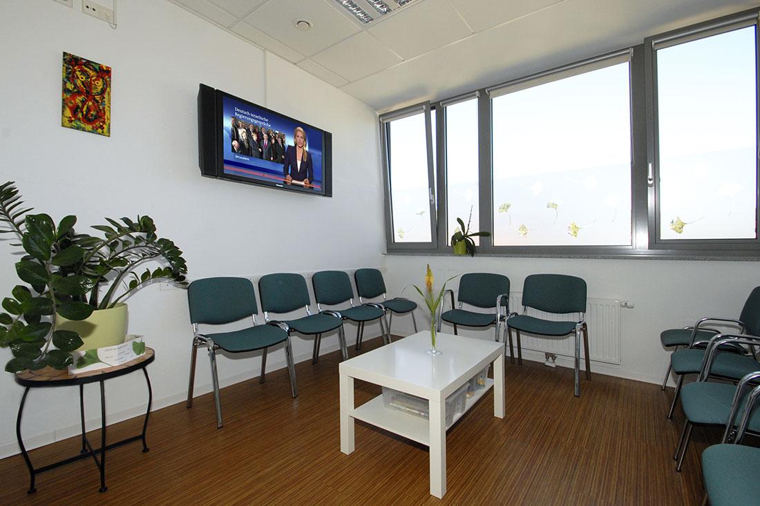 Wartezimmer - Dr. Scherat - Praxis - Hausarzt Murrhardt
